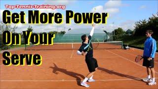 tennis serve technique   get more power