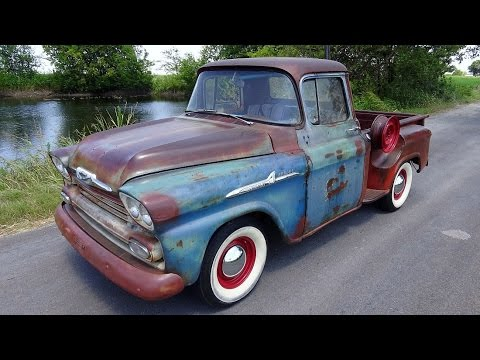 1959 Chevy Apache clic pickup truck - YouTube