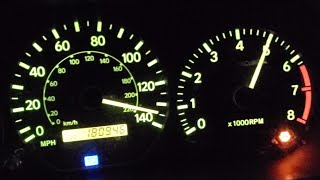 !!!98 XLE V6 TOYOTA CAMRY TOP SPEED TWO TRIES!!!!!!!!!!!!