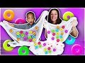 How To Make LIFESAVERS GUMMY SLIME With 3 Year Old
