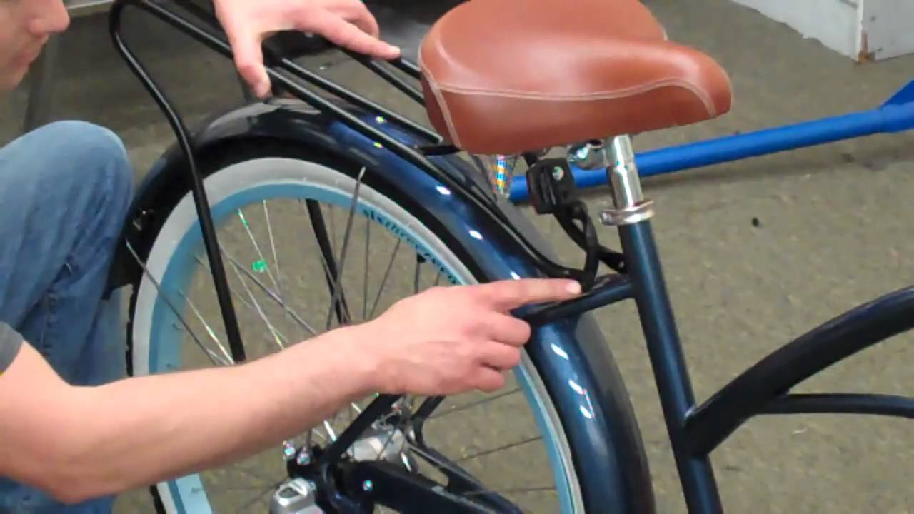 Beachbikes Com Installing A Bicycle Rear Carrier On A