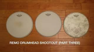 Remo drumhead shootout (part 3): Ambassador Coated, Ambassador Vintage Coated, Ambassador Fiberskyn