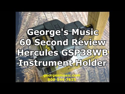 George's Music 60 Second Review Hercules GSP38WB Instrument Hanger