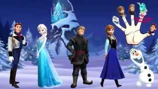 disney frozen finger family songs   nursery rhymes for children and kids
