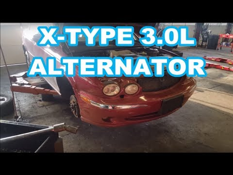 Jaguar X Type Alternator REPLACEMENT 2002 3.0l How to replace belt ac compressor