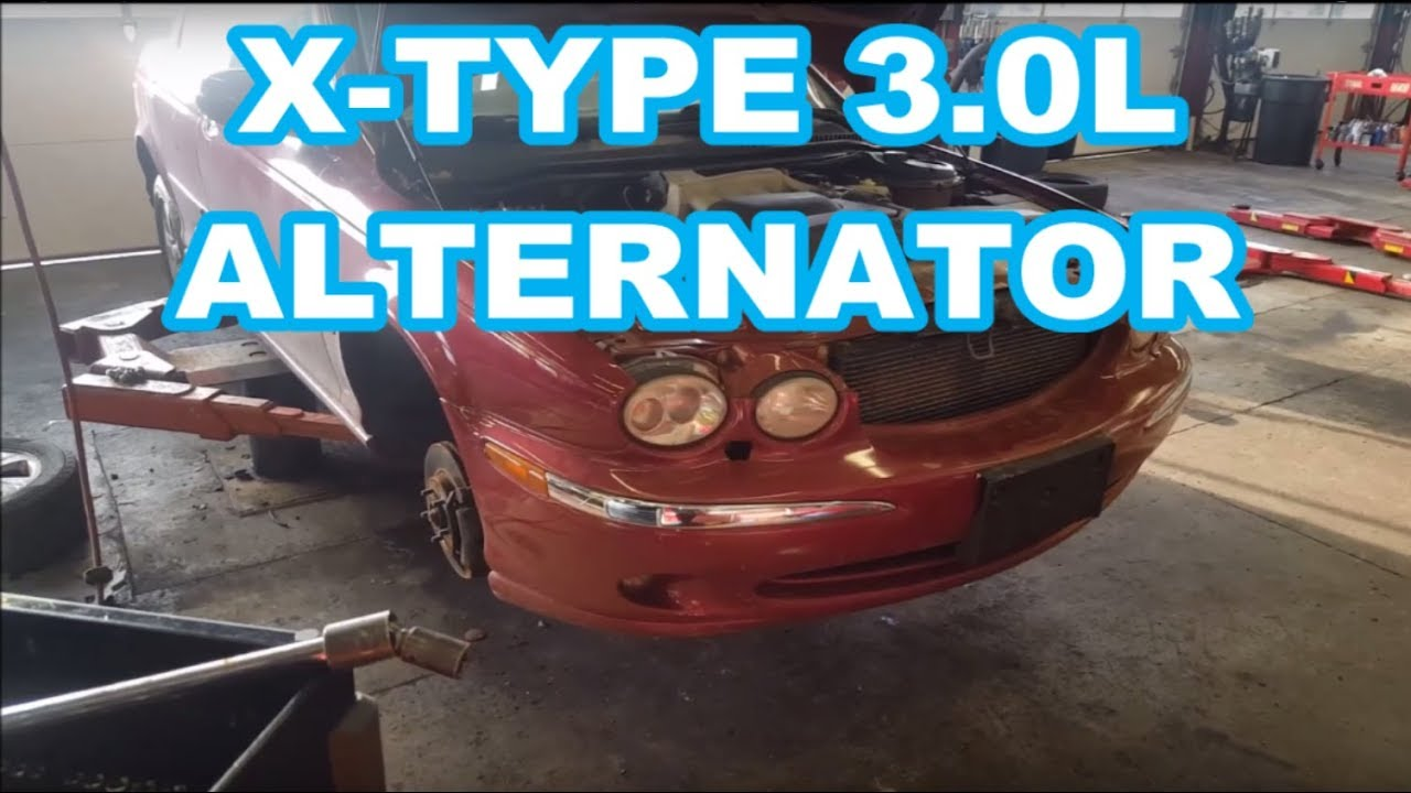 hight resolution of jaguar x type alternator replacement 2002 3 0l how to replace belt ac compressor