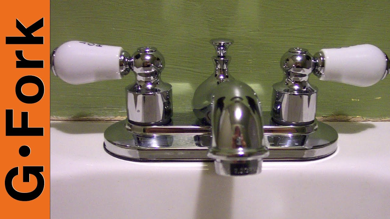 how to install a bathroom sink faucet - youtube