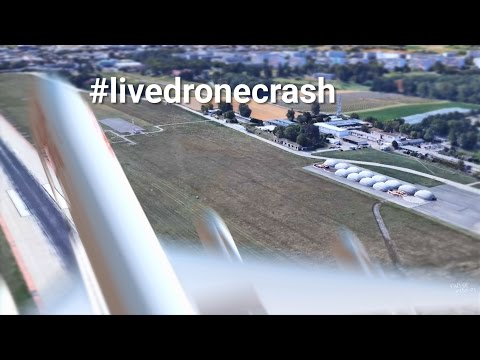 IT IS FORBIDDEN TO FLY A DRONE AT THE AIRPORT - #livedronecrash