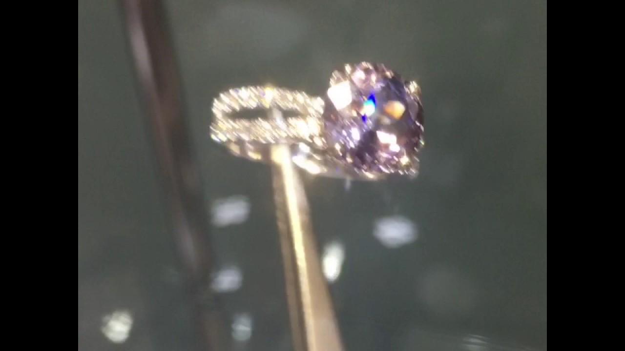 Very Rare Taaffeite & Diamond 18k Ring