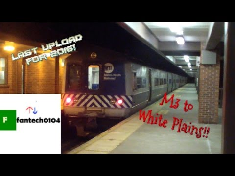 Riding a Budd M3 EMU Train on the MNRR Harlem Line - From Grand Central Terminal to White Plains