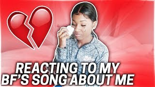REACTING TO MY BOYFRIEND SONG ABOUT ME!!!