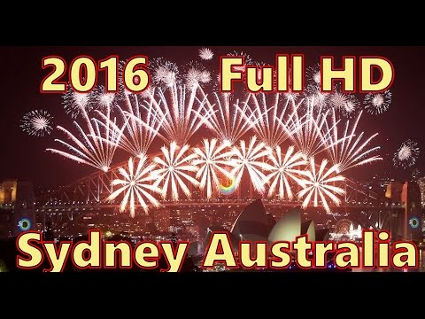 Full HD Sydney, Australia Fireworks New Year Eve 2016