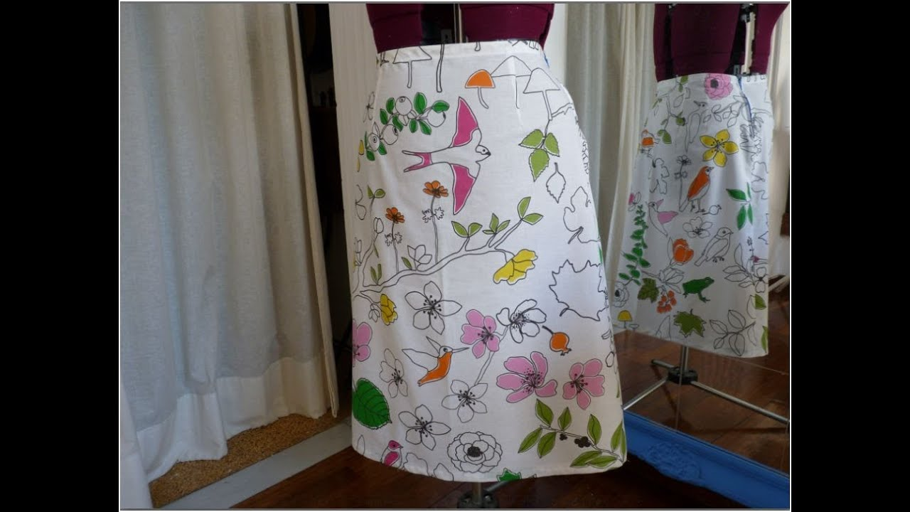 How To Sew Your A Line Skirt Youtube