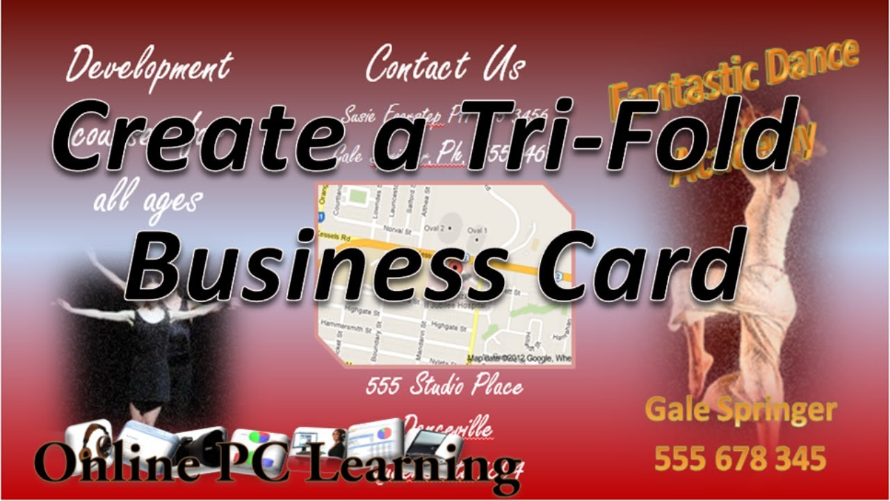 Business Card Make Your Own Business CardsTrifold Business - Tri fold business card template