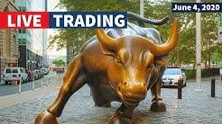 Watch Day Trading Live - June 4, NYSE & NASDAQ Stocks