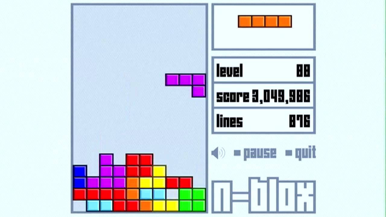4th highest amature tetris score in the world 8 million