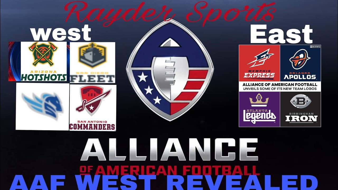c38b53f27f1 Alliance of American Football... West Teams Announcement - YouTube
