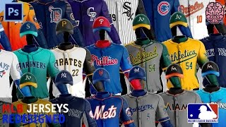 MLB Jerseys Redesigned by Qehzy