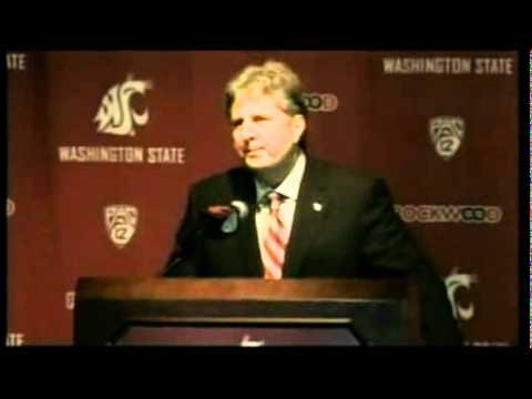 Coach Mike Leach introduced to Washington State University