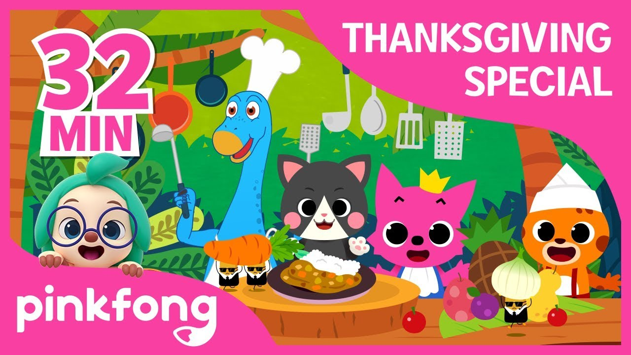 Im a Chef today and more | Thanksgiving Songs | +Compilation | Pinkfong Songs for Children