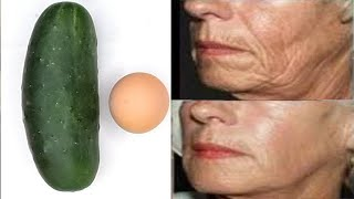 APPLY CUCUMBER AND EGG A M AND P M FOR SAGGING FACE LIFT FACE & REMOVE WRINKLES