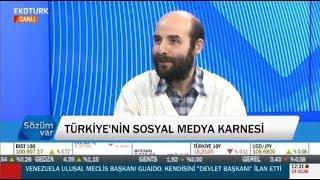 EKOTÜRK TV - Sözüm Var (24.01.2019) Doç.Dr.Ali Murat Kırık- Türkiye'nin Sosyal Medya İstatistikleri