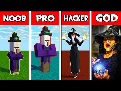 Minecraft - NOOB vs PRO vs HACKER vs GOD : WITCH MONSTER EVOLUTION in Minecraft Animation