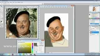Как просто нарисовать шарж в Adobe Photoshop(Пошаговая инструкция рисунка шаржа в Adobe Photoshop. Подойдет для всех желающих научиться рисовать шаржи по фото..., 2015-04-21T18:14:27.000Z)