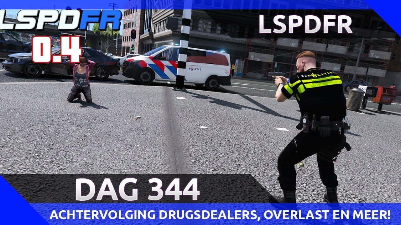 GTA 5 lspdfr dag 344 - Wilde achtervolging drugsdealers, overlast en meer!