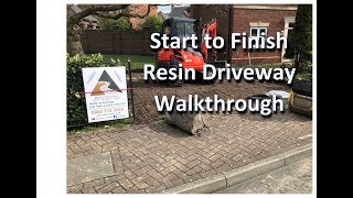 Resin Driveway Preston,  Full walk through from groundworks to resin