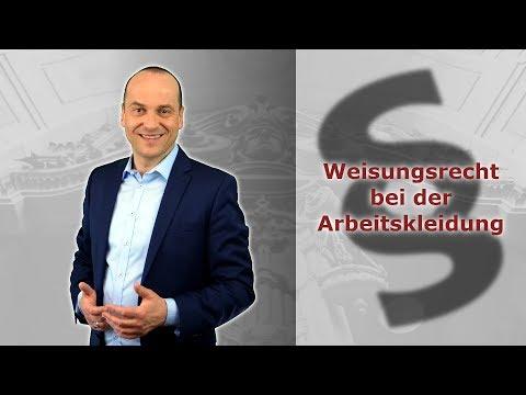 Arbeitskleidung - Weisungsrecht Bei Geld Für Kleidung? | Fachanwalt Alexander Bredereck