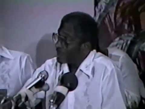 LFSB Last Press Conference to the Caribbean Media, 1985