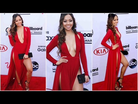Liane V red hot fashion at Billboard Music Awards