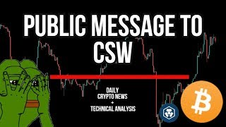 DAILY CRYPTO NEWS - IS CRAIG WRIGHT A FRAUD? - BITCOIN REACHING $8900 TARGET BEFORE A DROP