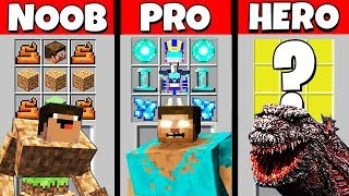 Minecraft Battle: NOOB vs PRO vs HEROBRINE: SUPER MUTANT CRAFTING CHALLENGE / Animation
