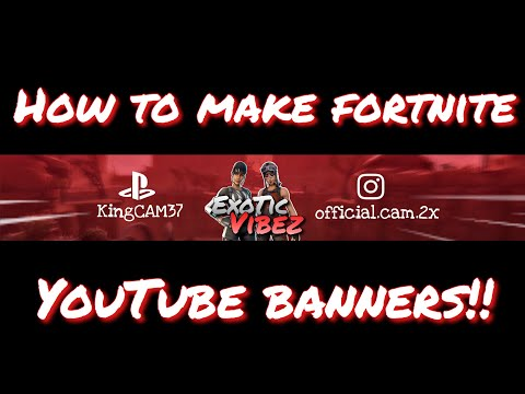 TUTORIAL | How To Make FORTNITE YOUTUBE BANNERS On IPHONE!!