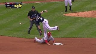 STL@MIL: Wong swipes second for first career steal