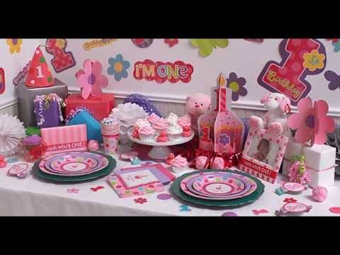 girls-1st-birthday-party-themes-decorations-at-home-ideas