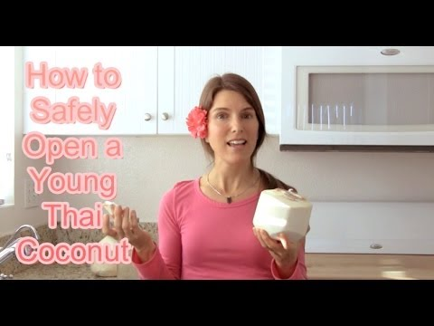 How To Open A Young Thai Coconut Safely & Easily