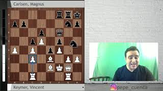 14-year-old Vincent Keymer vs. Magnus Carlsen | GRENKE Chess Game of the day