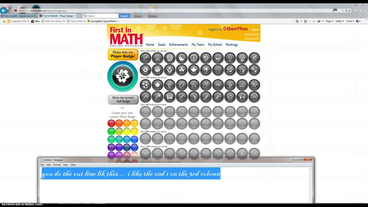 Worksheet First In Math First In Math first in math badge and help youtube help