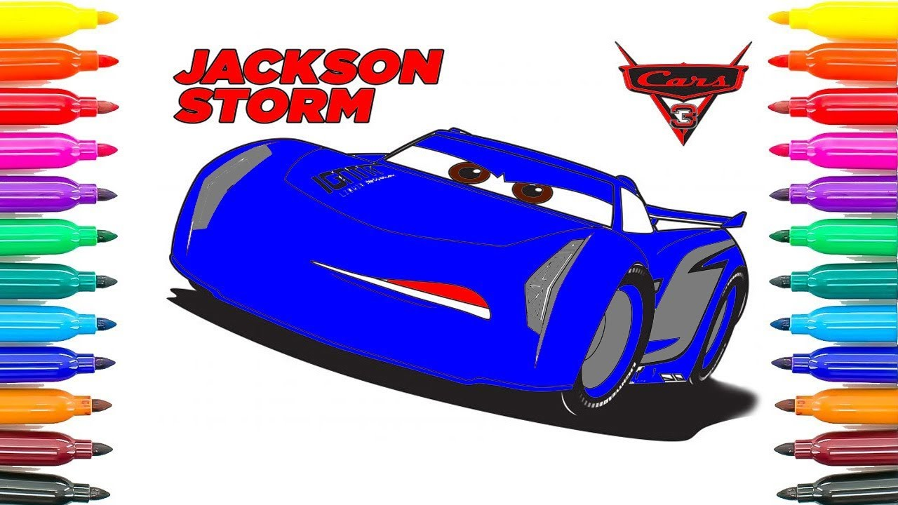 How To Drawing Jackson Storm Cars 3 Coloring Pages How To Coloring
