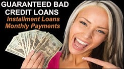 BAD CREDIT LOANS GUARANTEED APPROVAL LENDERS - Get Access To These Bad Credit Lenders