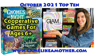 Game Like a Mother Top Ten October 2021: Cooperative Games for Kids Ages 6+