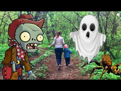 Мультик про привидение, зомби и больших пауков