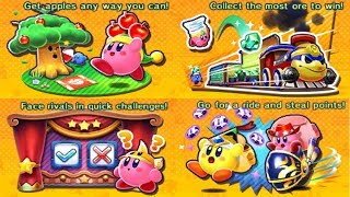 Kirby Battle Royale - All Minigames