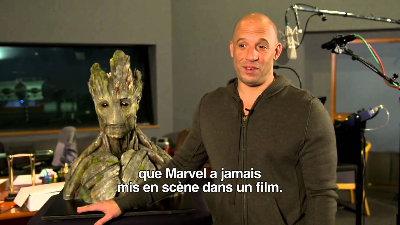 les gardiens de la galaxie making of vin diesel aka groot youtube. Black Bedroom Furniture Sets. Home Design Ideas