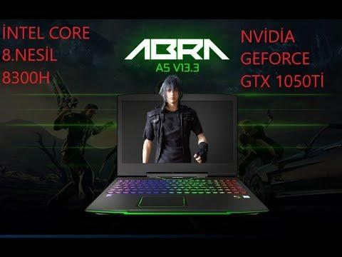 Monster Abra A5 V13.3 Detaylı İnceleme GTX 1050Tİ CORE İ5 8300H