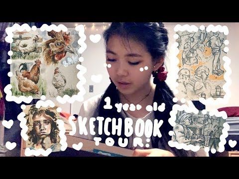 🎊Sketchbook Tour!🎊 | Zoom Through with Me | Tiffany Weng