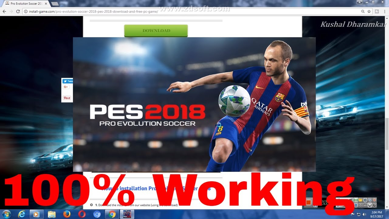 download pes 2018 for pc free install and play